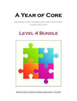 AAC A Year of Core Level 4 Bundle: BOARDMAKER - Word of the Week Speech Program