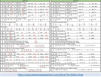 Math Homework, Level 4 Kit