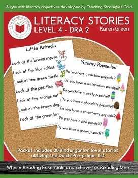 Level 4 Literacy Stories