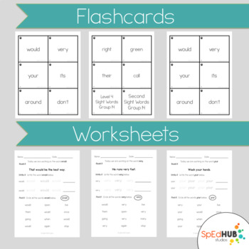 Level 4 Sight Word Work Packet