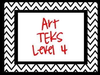 Level 4 TEKS Cards