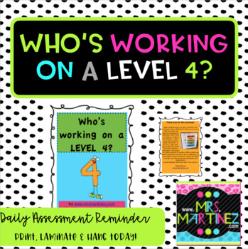 Level 4 WOW Work Poster