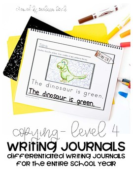 Differentiated Writing Curriculum- Level 4 (Copying)