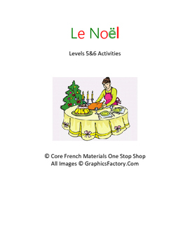 Level 5&6 French Christmas Activities Bundle