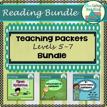 Reading Syllable Types Level 5-7 Teaching Packet Bundle