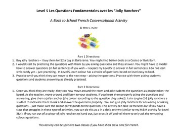 Level 5 Back to School Activity: Jolly Rancher Conversatio