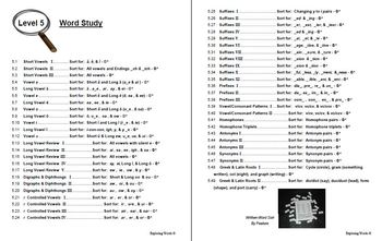 Level 5 Complete Word Study Book - Exploring Words