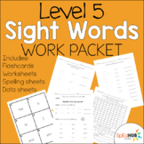 Level 5 Sight Word Work Packet