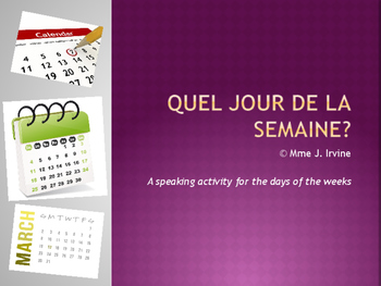 Level 6 Core French Year 1 Unit 1 Calendar Unit Bundle