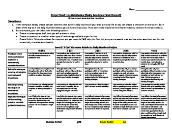 Level 7&8 Daily Routines Final Project Handout
