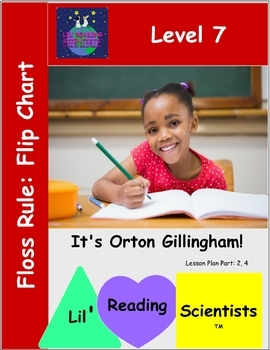 FLOSS RULE (Twin Letters) -  Picture Prompts and Words - Flip Chart (OG)