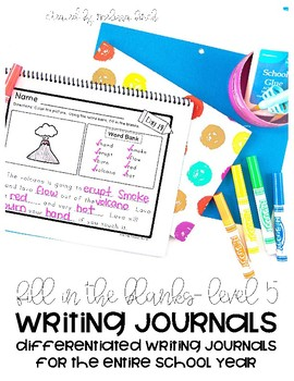 Differentiated Writing Curriculum- Level 5 (Fill In The blanks)