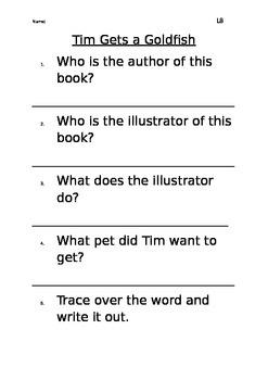 Level 8 text Tim gets a Goldfish