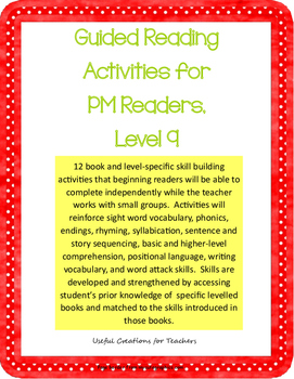 Level 9 Guided Reading Activities for PM Readers