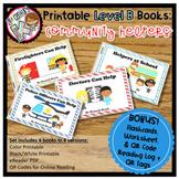 Printable Leveled Books for Kindergarten - Community Helpers Level B