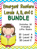 Levels A, B, and C Emergent Reader Mega Bundle for Kindergarten- Guided Reading