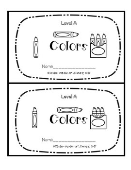 Level A Book-Colors