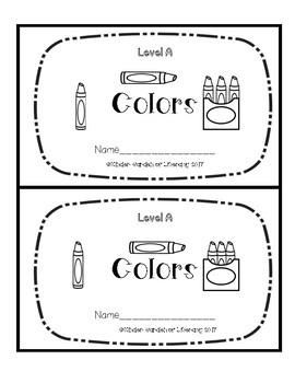 Level A Book-Colors
