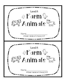 Level A Book-Farm Animals