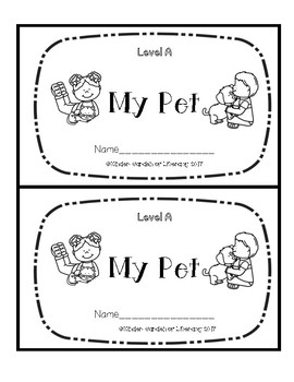 Level A Book-Pets