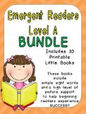 Level A Emergent Reader Bundle- Leveled Readers for Kindergarten Guided Reading