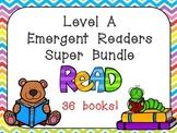Level A Emergent Reader Super Bundle for Preschool or Kindergarten