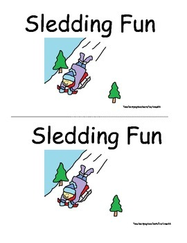 Level A Fiction Guided Reading Printable Book: Winter Sledding