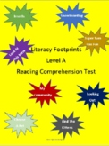 Level A Literacy Footprints Reading Comprehension Tests