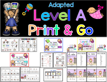 Adapted Level A (Big Sister) Book Unit & Comprehension (Autism / SPED)