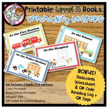 Level A Readers for Guided Reading - Community Helpers