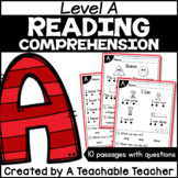 Level A Reading Comprehension Passages and Questions