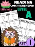 Level A Reading Comprehension Passages & Questions - SET 1