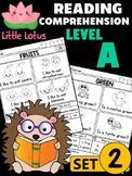 Level A Reading Comprehension Passages & Questions - SET 2