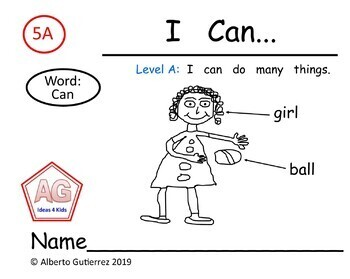 "Level A: Repeating Pattern Book #5 ""I can..."