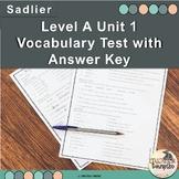 Vocabulary Workshop Level A Unit 1