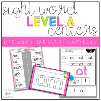 Level A Sight Word Centers