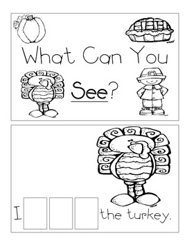 Level A Sight Word Reader-See (Thanksgiving)