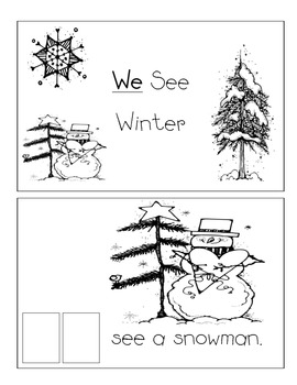 Level A Sight Word Reader-We (Winter)