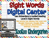 Level A Sight Words Digital Center (Jan Richardson Guided Reading Word List)