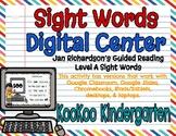 Level A Sight Words Digital Center (Jan Richardson Guided