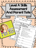 Level A Skills Assessment and Parent Note