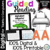 Digital Guided Reading Distance Learning Level AA Google Classroom Activities