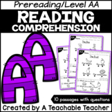 Level AA Reading Comprehension Passages and Questions