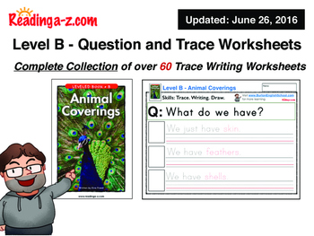 Level B - A to Z Reading Worksheets.