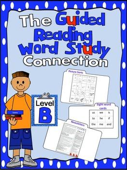 Level B (DRA 2)  Sight Words, Word Sorts & Writing Vocab t