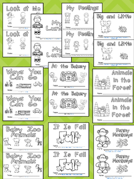 Level B Emergent Reader Bundle- Leveled Readers for Kindergarten Guided Reading