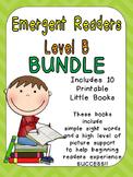 Level B Emergent Reader Bundle- Leveled Readers for Kinder