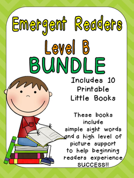 Level B Emergent Reader Bundle- Leveled Readers for Kinder