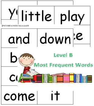 Level B Guided Reading Flash Cards