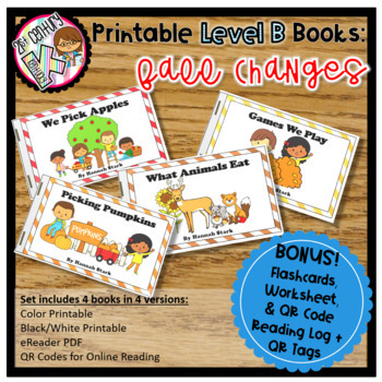 Level B Readers for Guided Reading - Fall Changes